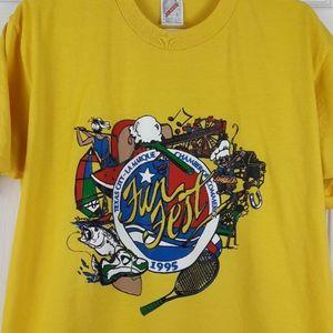 Vintage 90s Texas City La Marque Funfest Shirt